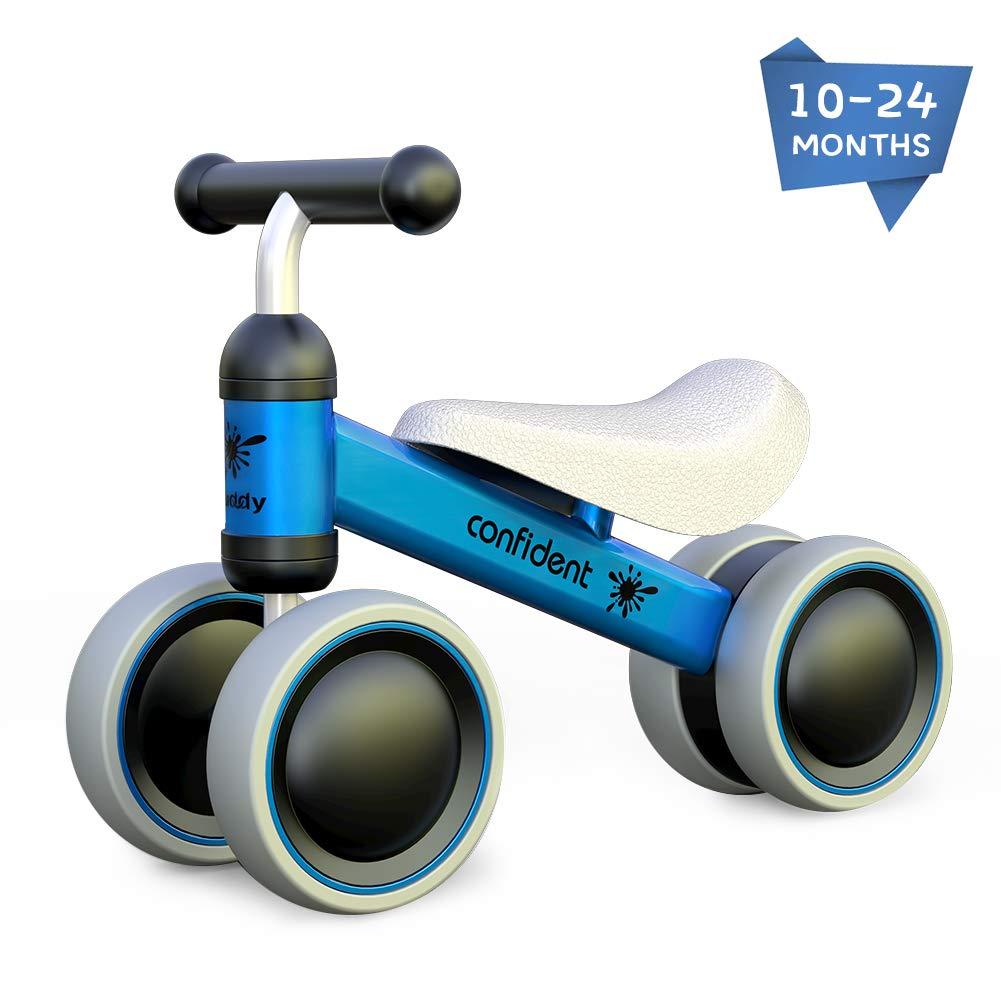 Baby Boy Girl Balance Bike Bicycle Children Walker 4 Wheels Toys Rides No-Pedal