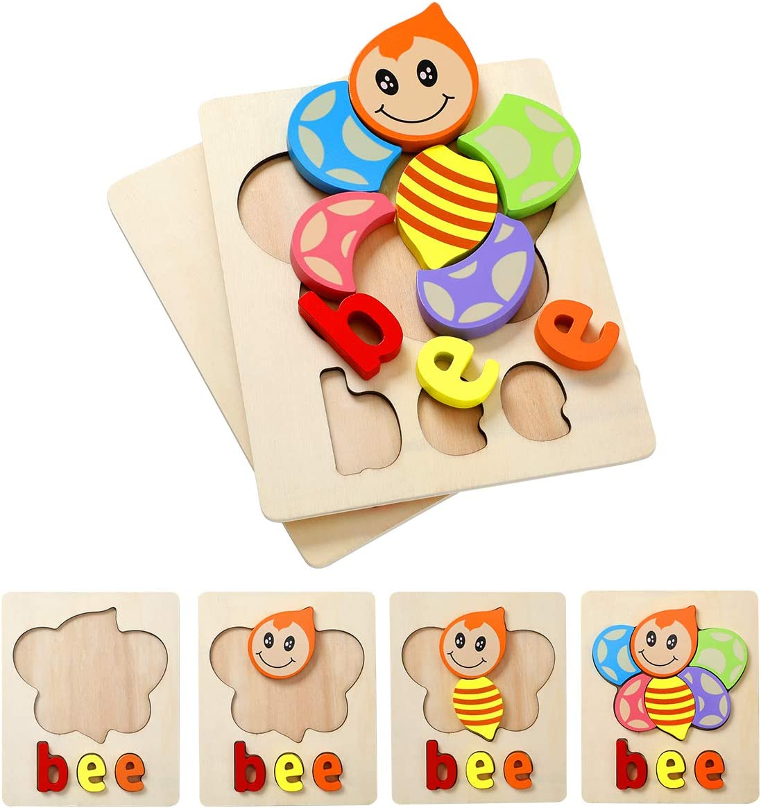 Cartoon Holz Stein Jigsaw Puzzle Baby Kleinkind Früh Lernen Lernspielzeug
