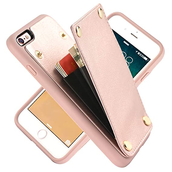buy online 737b8 e8169 Amazon.com: iPhone 6s Case, iPhone 6 Wallet Case, LAMEEKU Shockproof ...
