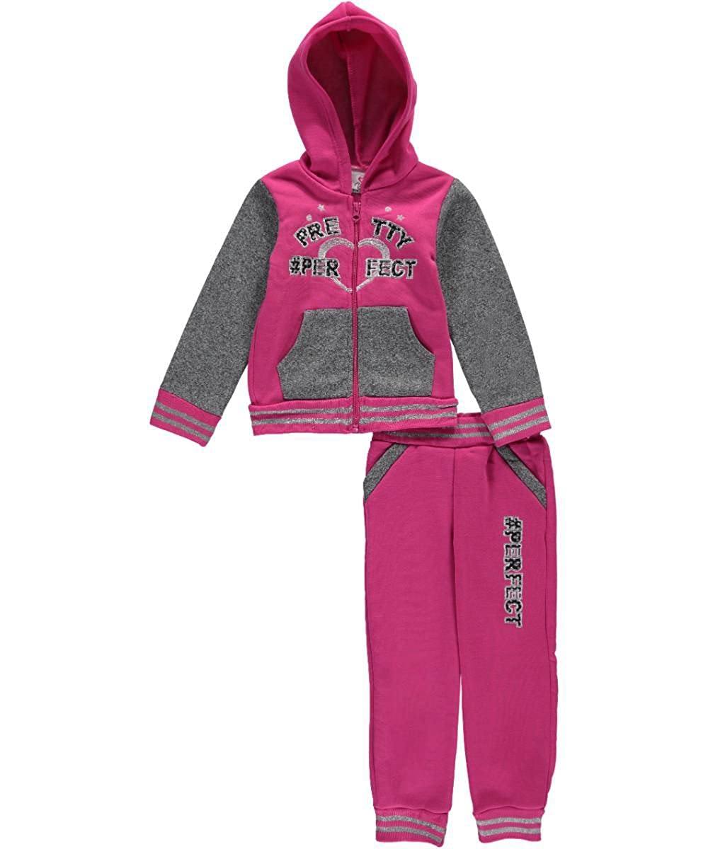 Real Love Little Girls' Pretty Perfect 2-Piece Fleece Outfit 4