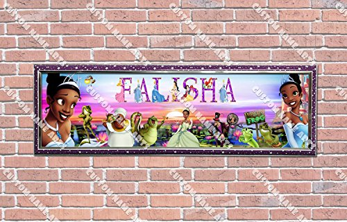 - Personalized Customized Disney Princess and the Frog Poster With Frame, With Your Name On It, Party Door Poster, Room Art Decoration, Wall Decor