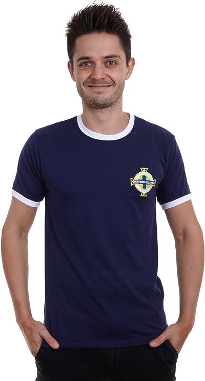 Print Me A Shirt Camiseta para Hombre Adulto George Best Northern Ireland, Azul Marino/Blanco: Amazon.es: Deportes y aire libre