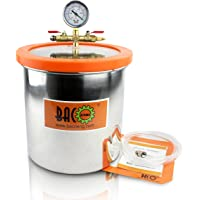 BACOENG 12L Stainless Steel Vacuum Chamber for Degassing Urethanes, Resins, Silicones and Epoxies 25cm(H) x 25cm(OD)