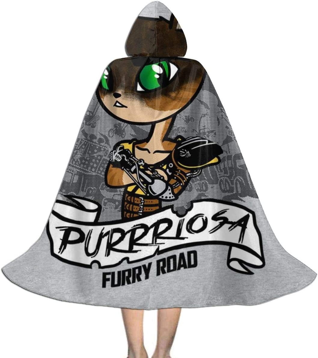 KUKHKU Mad MAX Furiosa Purriosa Capa con Capucha Unisex para niños ...
