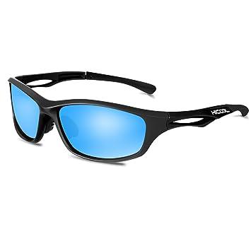 389dfe0719ac67 Hicool Lunettes de Soleil Professionnel Polarisée Anti-UV Lunettes de Sport  Adulte pour Vélo,