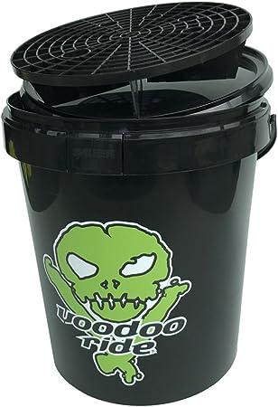 Voodoo Ride Er15 9 293 Dk 9017 Eimer Mit Deckel Grid Und Logo 15 L Schwarz Grün Auto