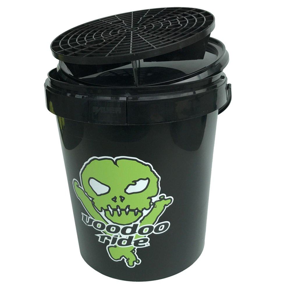 Voodoo Ride ER15, 9 –  293 + dk-9017 Secchio 15L –  Nero + Cover + griglia + Logo, Verde 9-293+ dk-9017Secchio 15L-Nero + Cover + griglia + Logo 9-293+dk-9017