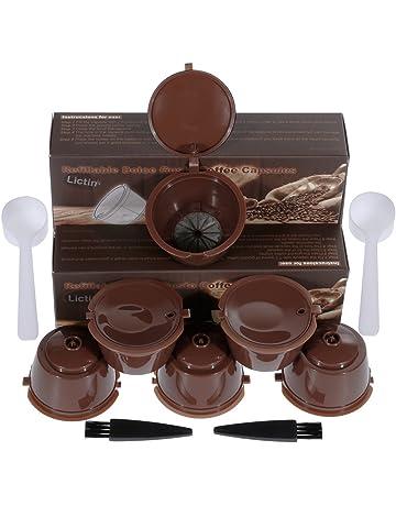 Lictin 3 Pack Cápsulas Filtros de Café Recargable Reutilizable para Cafetera Dolce Gusto Resistente Más de