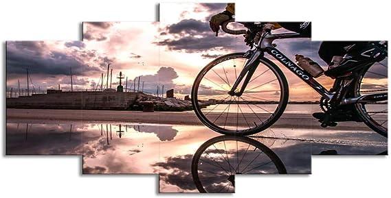 Cuadros Modulares Arte De La Pared Pintura para bicicleta con luz ...