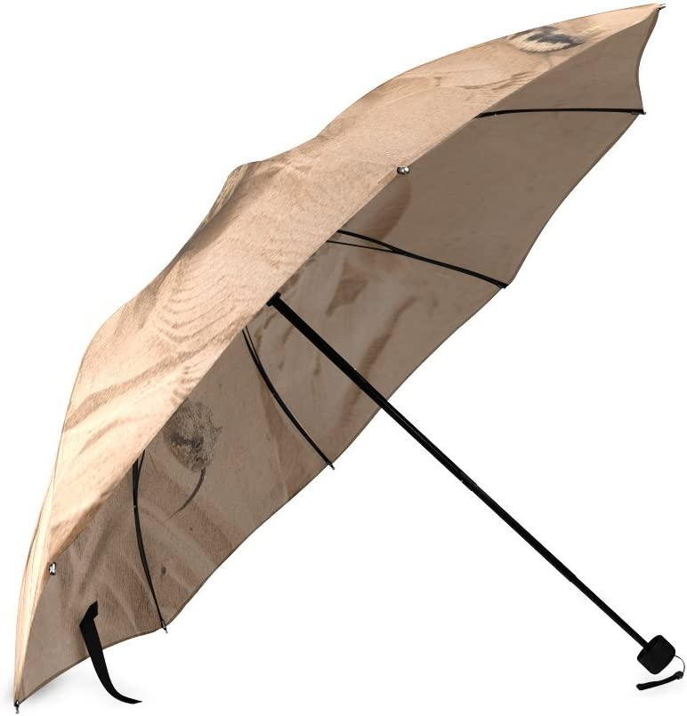 Custom Rattlesnake Compact Travel Windproof Rainproof Foldable Umbrella