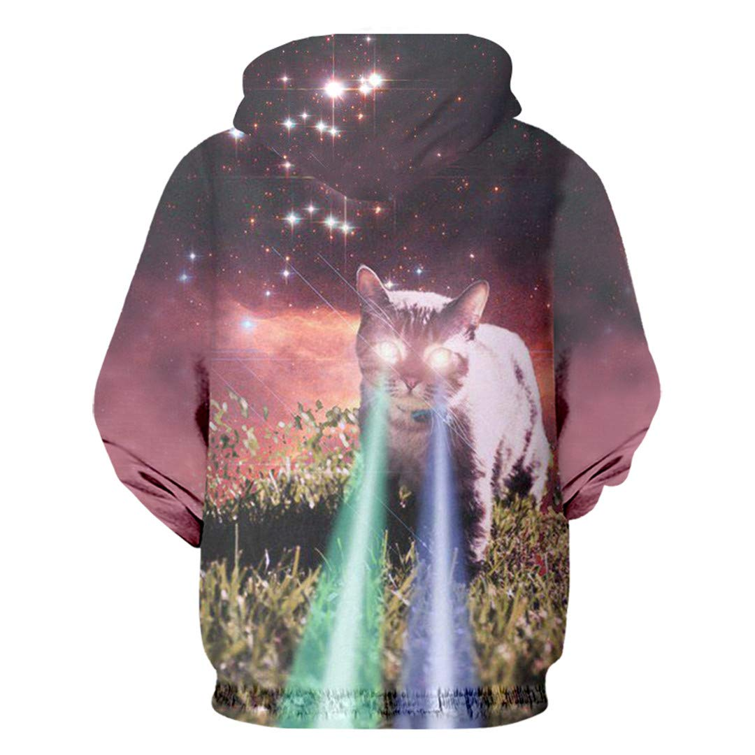 3D Hoodies Sweatshirts Printed Starry Sky Cat Streetwear Garment