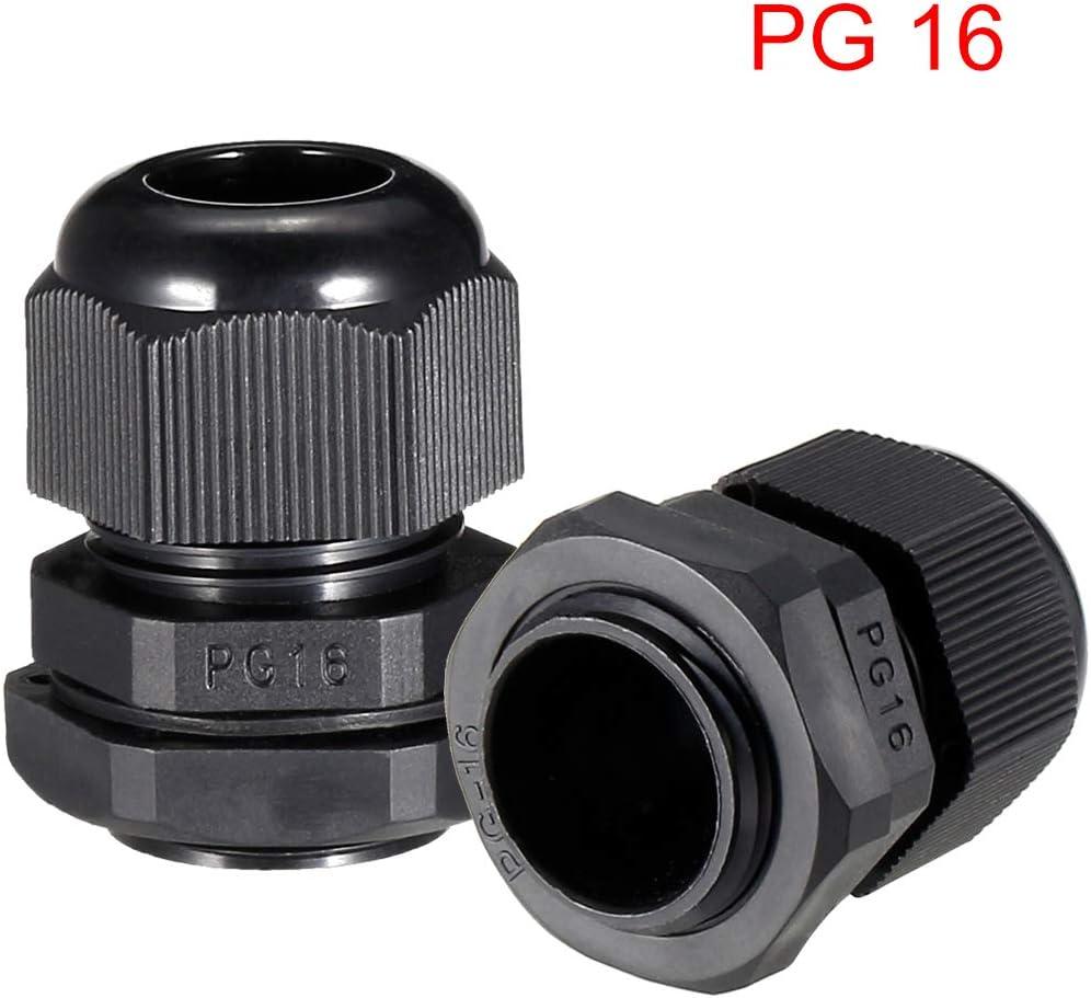 sourcing map 10Pcs presse-/étoupe PG7 joint /étanche noir r/églable 3mm-6.5mm/Ø
