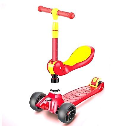 Patinete- Niño Scooter 3 en 1 Puede Sentarse Plegable 2-12 ...
