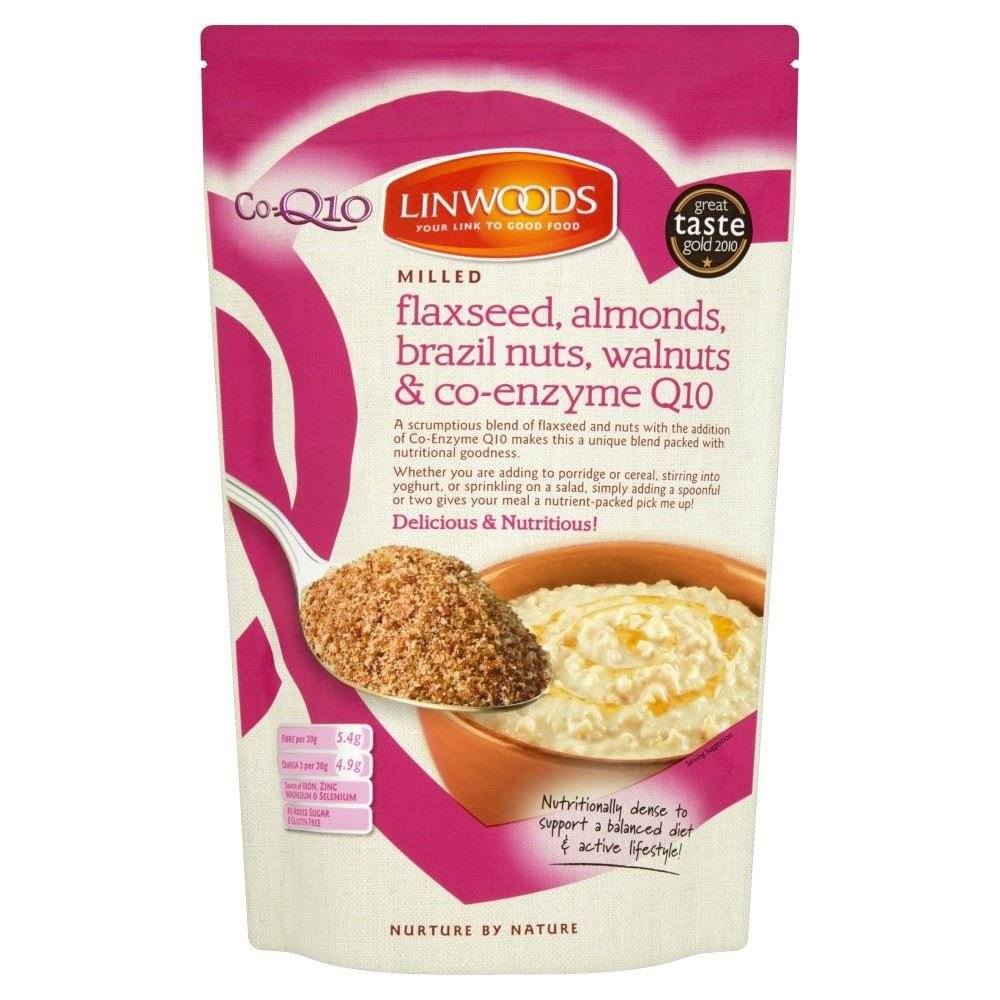 Linwoods Milled Flaxseed, Walnuts, Brazil Nuts, Almonds & Q10 (360g) - Pack of 6