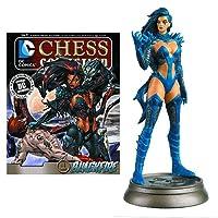 DC Superhero Blackfire Black Pawn Chess Piece with Collector Magazine