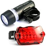 5 LED 5 Mode Bicycle Mountain Bike BMX Cycling Lights Head and Rear Lamp New Q26