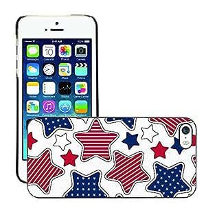Print Motif Coque de protection Case Cover // V00002514 patrón de rayas y estrellas // Apple iPhone 5 5S 5G