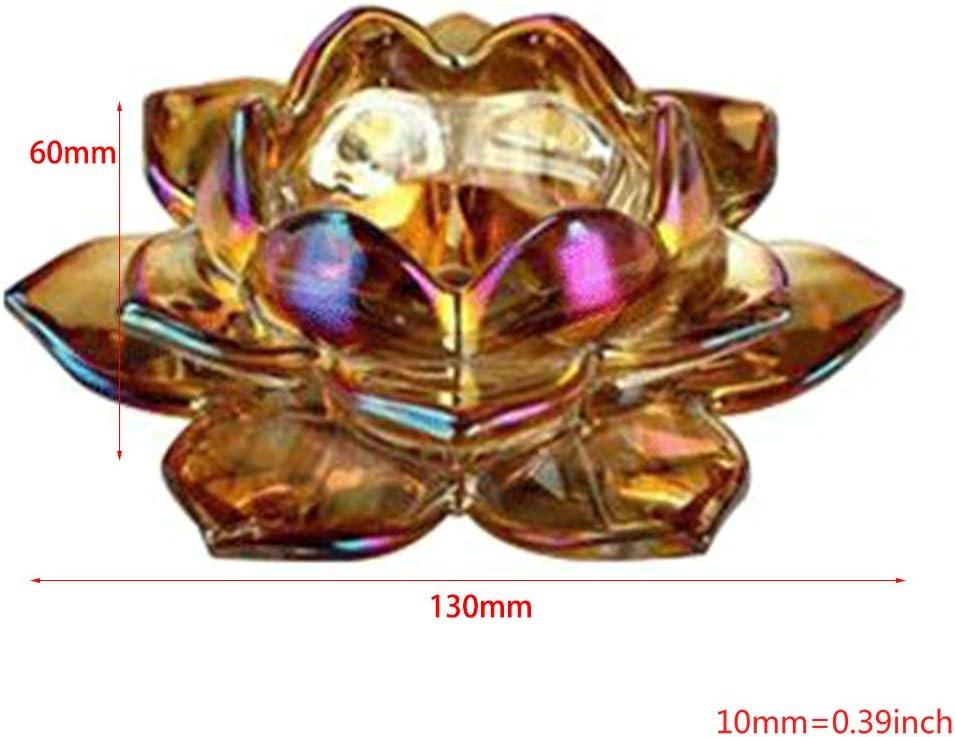 Table,Lot De 2 Chiic Bougeoirs- Chandeliers Lotus Cristal Bougeoirs En Verre Transparent Bougeoir Pour D/écorer La Maison Bureau H/ôtel