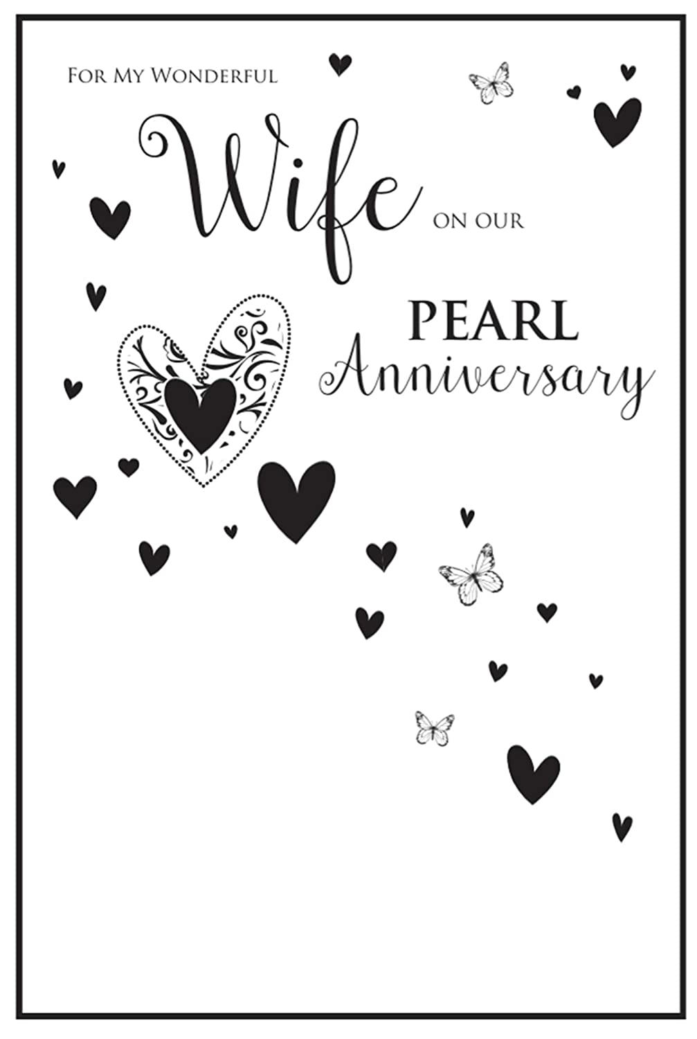 Gibson Large Exquisite Card Wife On Our 30th Pearl Anniversary