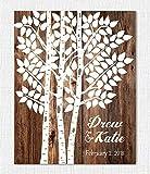 Wedding Tree Print - Wedding Guest Book Alternative - Personalized Art Poster - Wedding Decor Paper