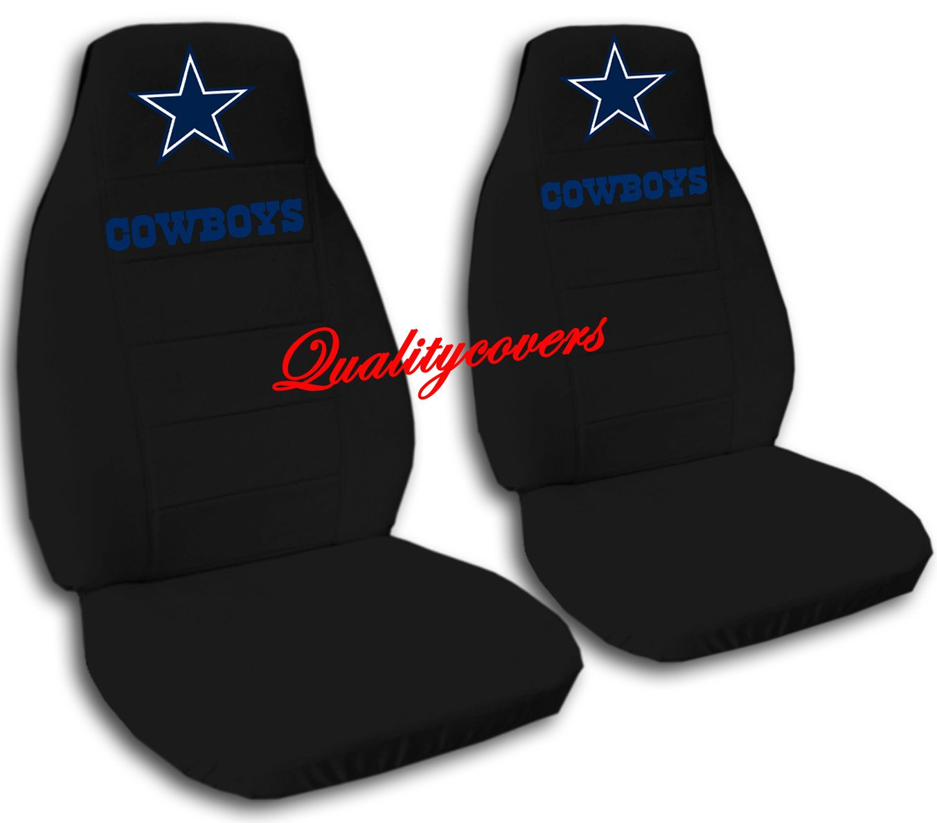2 Black Dallas seat covers for a 2007 to 2012 Chevrolet Silverado. Side airbag friendly.