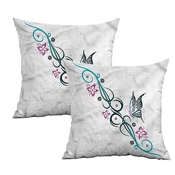 Amazon.com: Khaki Home Tattoo Funda de almohada cuadrada ...