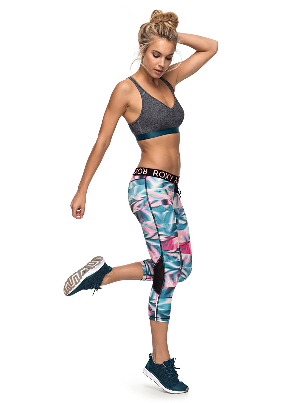 Roxy Stay On Capri 2 Pantalones Pirata de Diseño Técnico para Running, Mujer