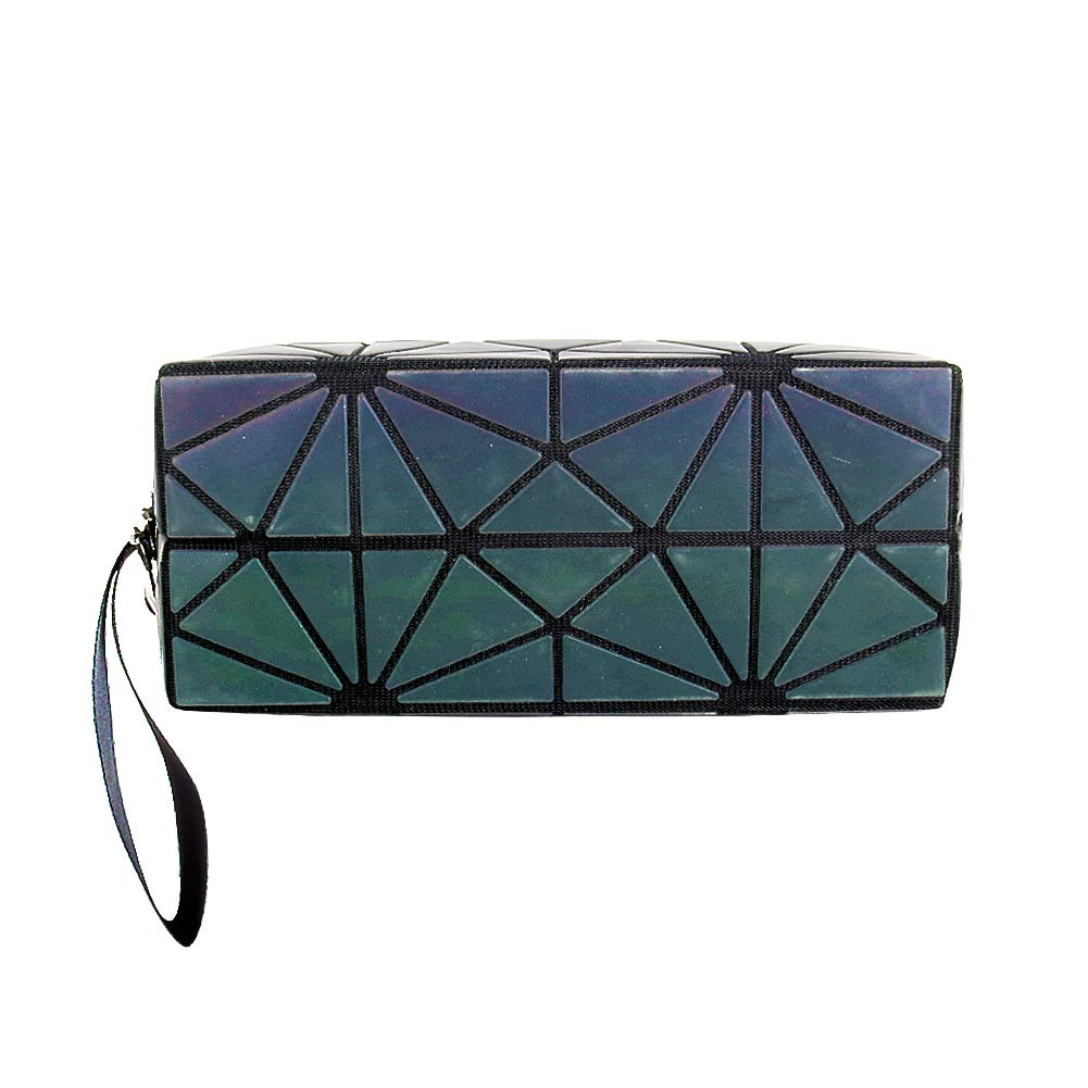 26e5e622a Amazon.com: Beautier Holographic Reflective Luminous Handbag Lattice Design  Geometric Bag Unique Purses Soft PU Leather Wristlet Clutch Cell Phone Purse  ...