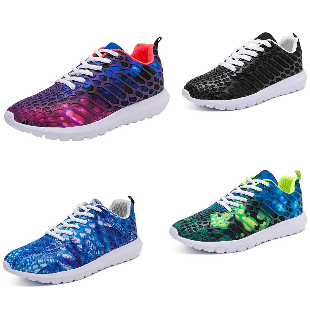 JiaMeng Zapatillas de Correr Hombre Color de Hechizo Casual Cómodas Calzado de Correr Pareja Zapatillas Deportivas Zapatillas de Deporte para Correr al Aire ...