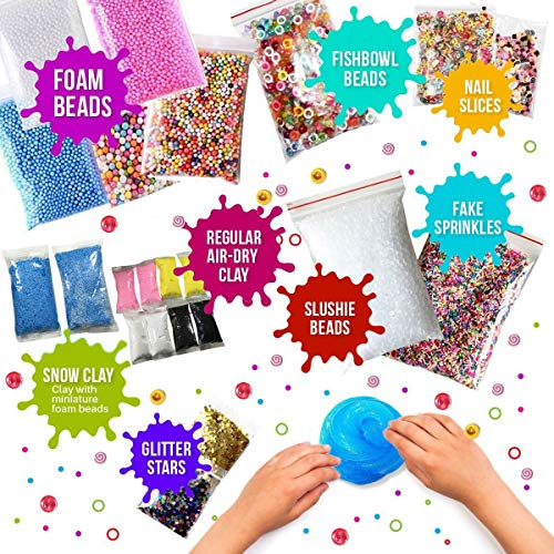Ultimate Slime Kit for Girls and Boys | Slime Kit with Slime Supplies | Complete DIY Slime Making Kit | Includes Slime Ingredients, 10 Colors, 8 Different Add-Ins | Colorful Slime Kits for Family Fun by Lily and Lee's Craft Accessories Shoppe (Image #1)