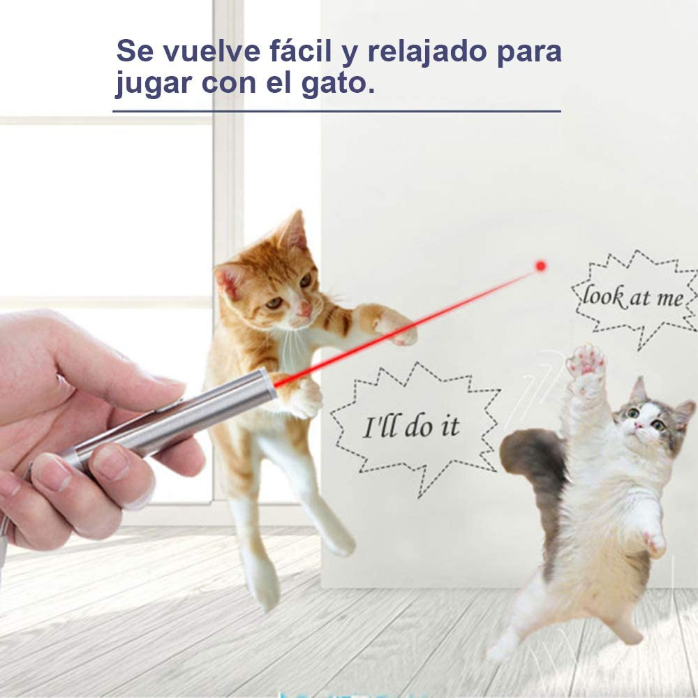 Faburo 4 Piezas Juguetes Gatos, Juguetes interactivos para Gatos, 2 en 1 Función Mascota Gato Captura Juguetes de Entrenamiento (Baterías no ...