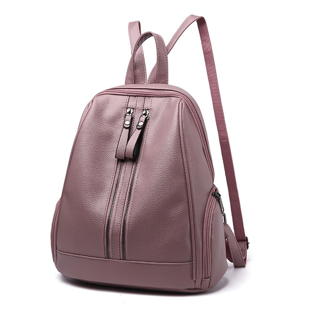 Womens PU Leather Backpack Mini Rucksack Travel Bookbag For Girls Backpack Leather Bag Ladies Purse