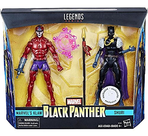 Marvel Legends Black Panther 6 Inch Action Figures Shuri and Klaw Hasbro Toys