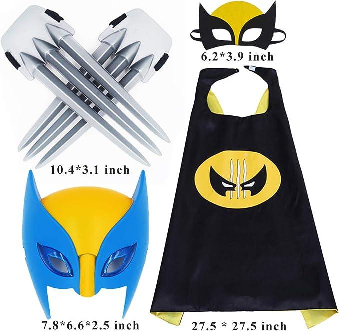 Amazon.com: Fundisinn Wolverine 5 paquetes de disfraces de ...