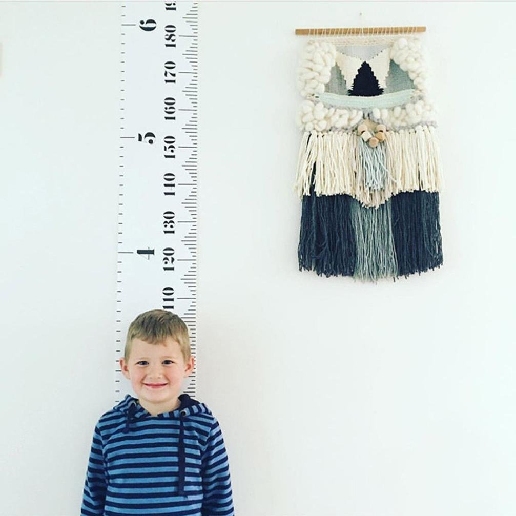 """Spritumn Children Height Chart Kids Growth Chart Canvas Wall Hanging Measuring Rulers Tape for Baby Infant Kids Toddlers Boys Girls Room Decor 7.9"""" x 79"""""""