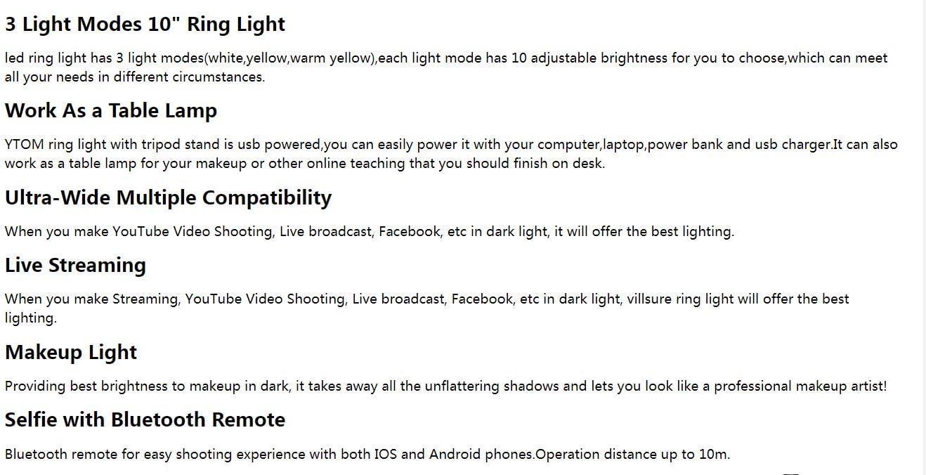 Damuxin 10 Selfie Ring Licht Make Up Telefon Ring Lampe Tisch Led Ring Licht Mit Stativ Stand Telefonhalter Für Youtube Video Fotografie Hellgrau Sport Freizeit