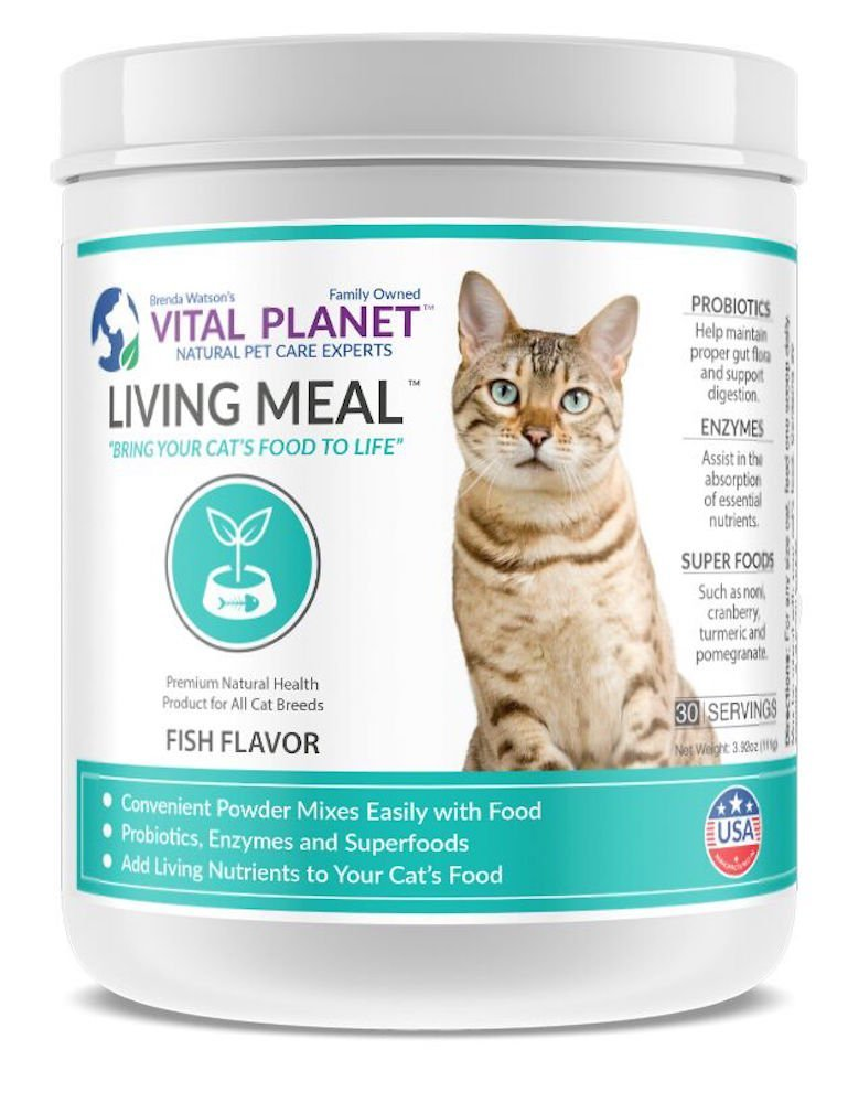 Vital Planet - Living Meal for Cats - Organic Daily Superfood Blend for Cats - 30 servings
