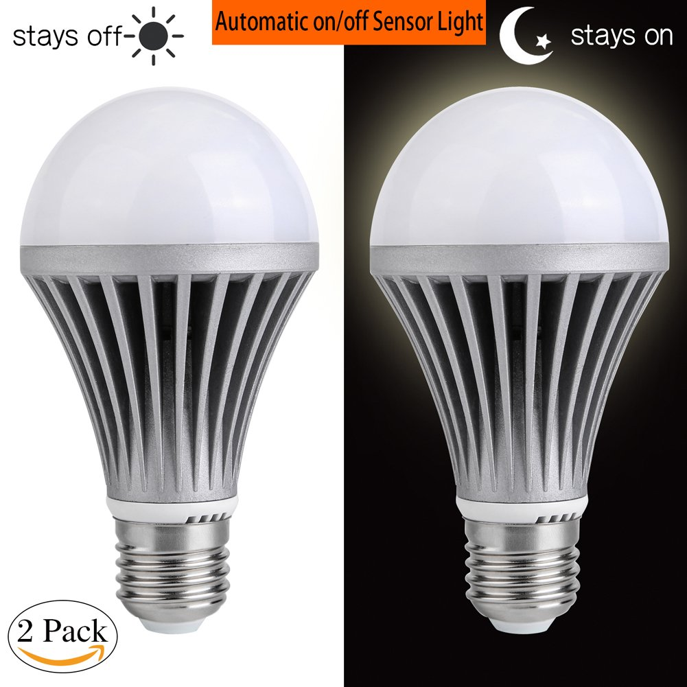センサーライト電球Dusk to Dawn LEDライト電球スマート照明ランプ7 W e26 / e27自動on / off、インドア/アウトドアポーチパティオガレージGarden Yard dusk to dawn light bulb 12W-3200K-08 B07BFCQTD7 10302 12w Warm White (2 Pack) 12w Warm White (2 Pack)