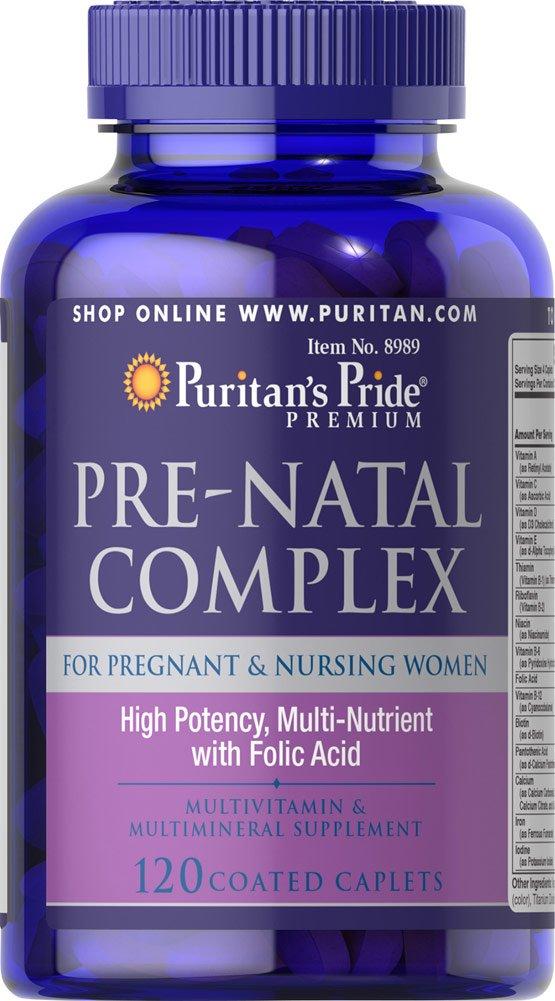Amazon.com: Puritans Pride Pre-Natal Complex-120 Caplets: Health & Personal Care