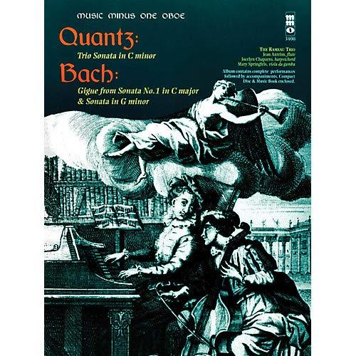 (Quantz - Trio Sonata in C Min Bach - Gigue from Sonata No 1 in C Maj Sonata in G Min Music Minus One BK/CD Pack of 2)