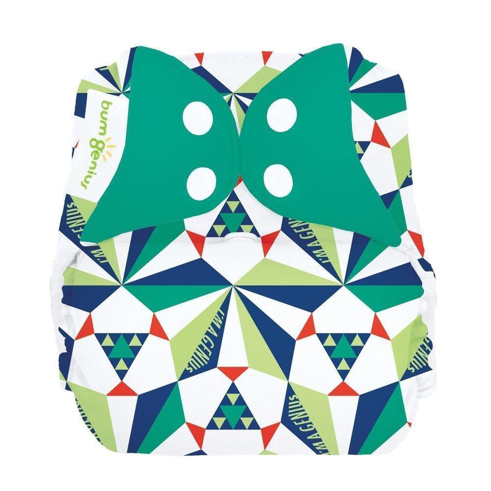 bumGenius Freetime All-in-One One-Size Snap Closure Cloth Diaper (Sierpinski)