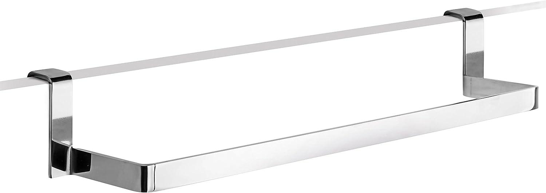 CM Baños Toallero Bajo Encimera/Mueble Pletina, Metal, Cromo Brillante, 30x6x9 cm