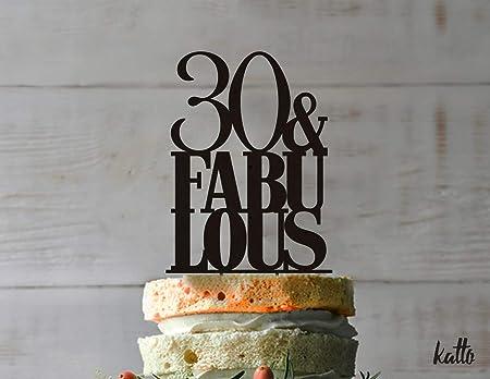 Decoración para tarta de 30 cumpleaños, personalizable ...