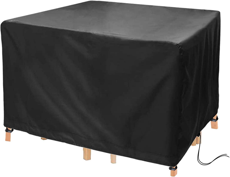 LIZHONG-SLT Copertura per Tavolo da Esterno Tessuto,Telo Copri per Mobili da Giardino Oxford Antipolveretelo Protettivo,per Arredo Esterno Coperture