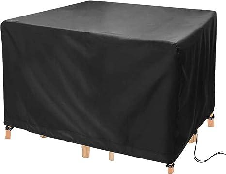 Non null Telo protettivo per mobili da giardino NingdeCK per tavolo e sedie da giardino anti-UV 115 x 115 x 70cm impermeabile Come da immagine
