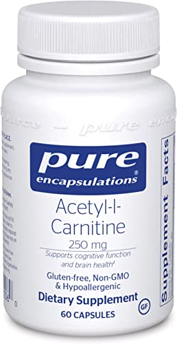 Pure Encapsulations – Acetyl-l-Carnitine 250 mg – Hypoallergenic Supplement to Promote Memory and Attention – 60 Capsules