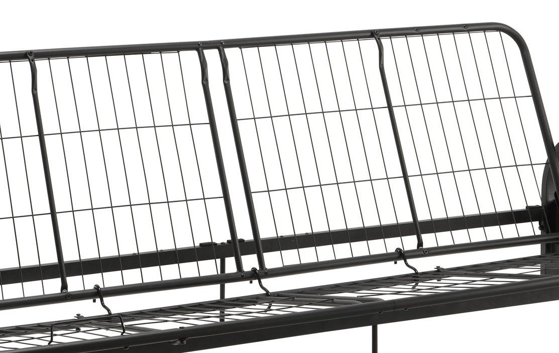 DHP Aiden Futon Metal Frame, Converts Easily to a Full- Size Bed, Black by DHP (Image #8)