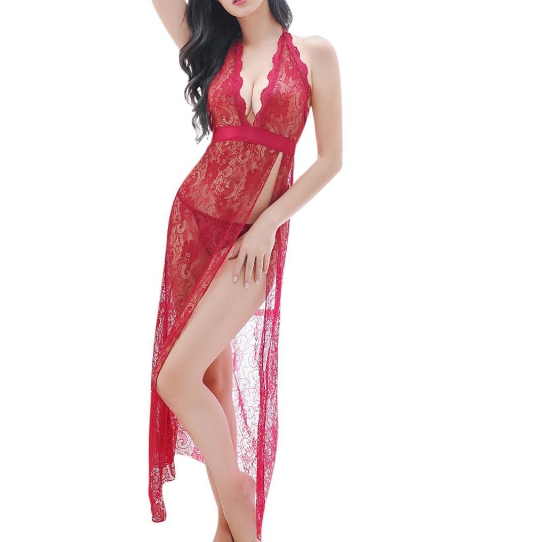 ARINLA Free size Exotic Lingerie Sling Long Dress G-string Set for Women for Sex SEX-SUHD