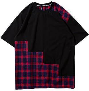 Wofupowga Mens Long Sleeve Hip Hop Tee Cowl Neck Blouse T-Shirts