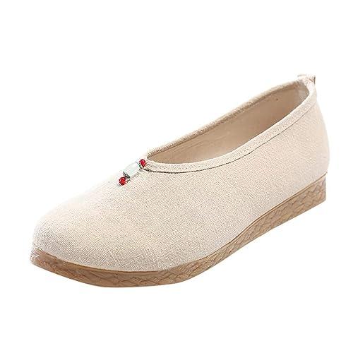 Mujer Mocasines Planos de Estilo étnico, Mocasin mocasine Mujeres Sandalias Zapatos Elegantes Verano Merceditas: Amazon.es: Zapatos y complementos